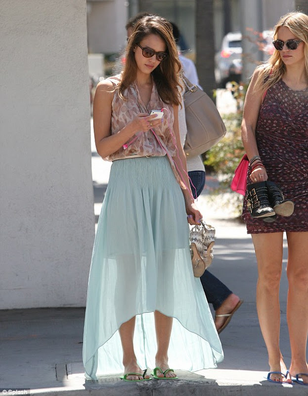 jessica alba sanctuary high low hem skirt.