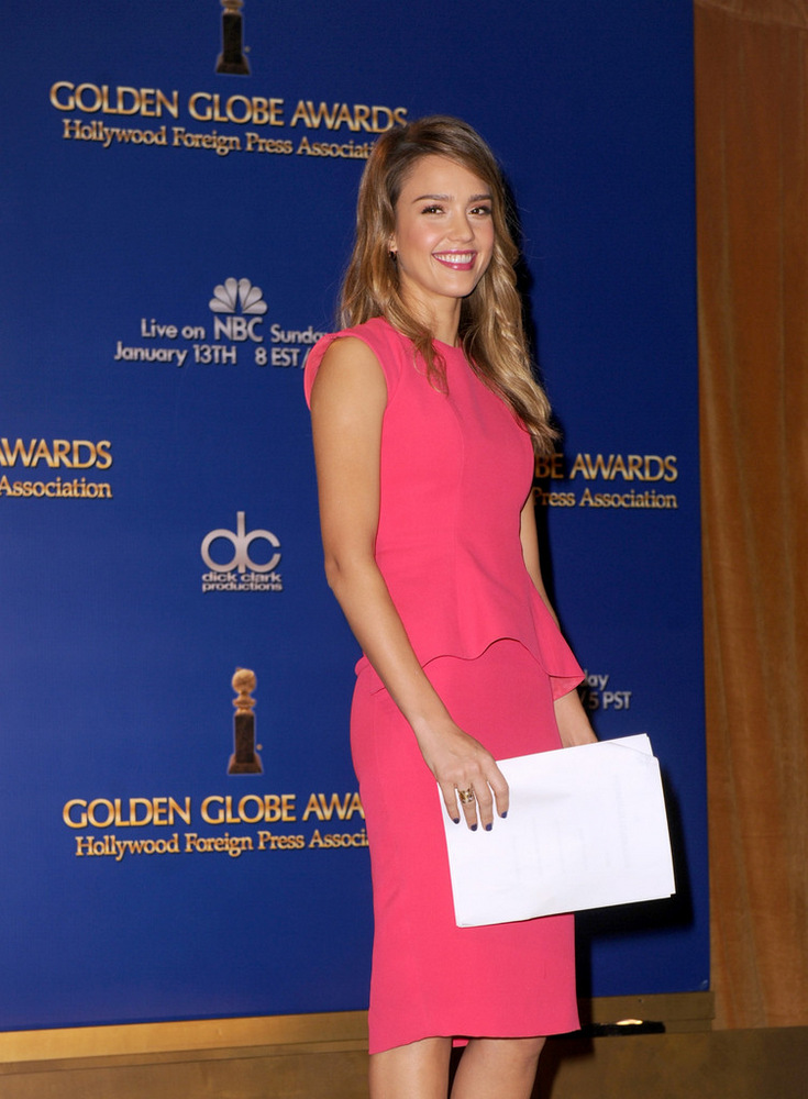 Jessica Alba 70th Annual Golden Globe Awards Nominations in LA 2012-003