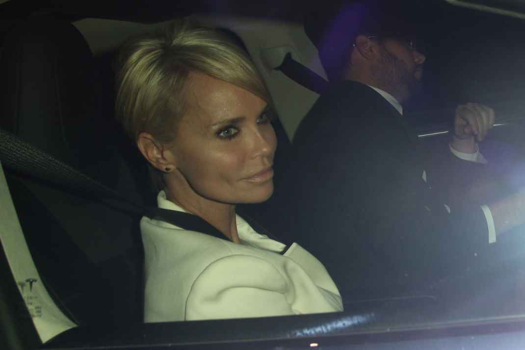 Kristin Chenoweth arriving and leaving Chateau Marmont with a mystery male in West Hollywood