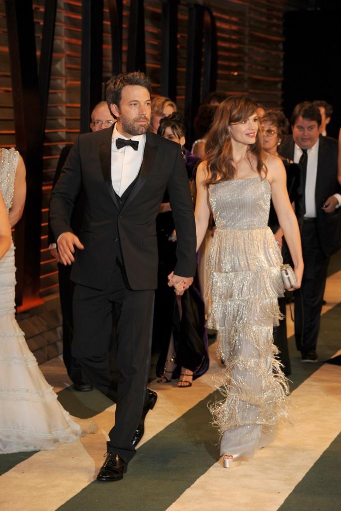 Ben Affleck with Jennifer Garner in Oscar de la Renta.