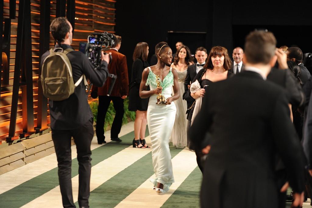Lupita Nyong'o in Miu Miu.