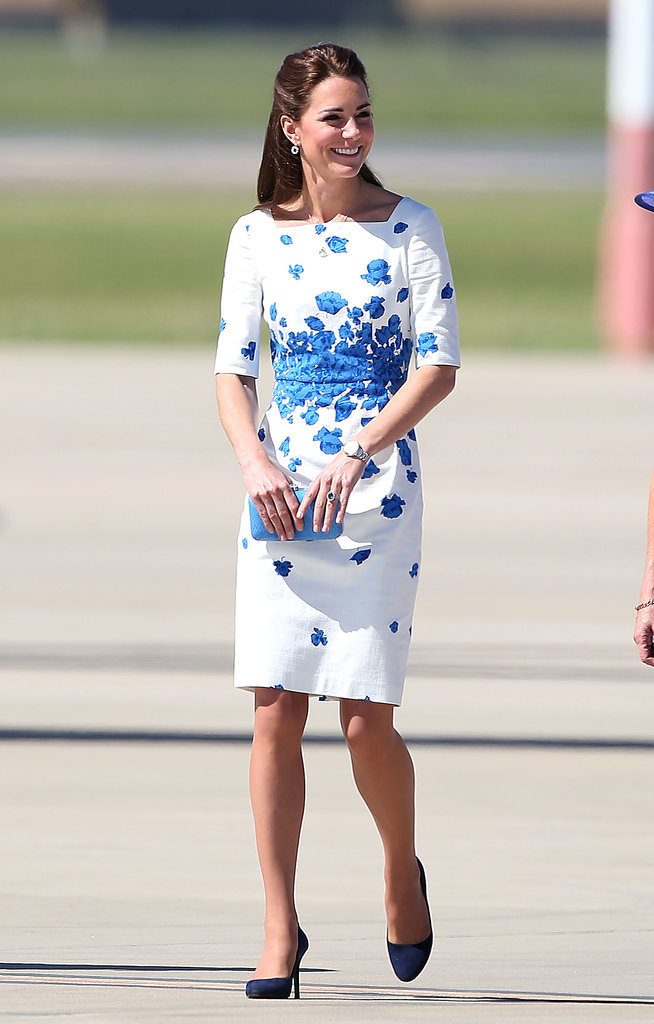 Kate-Middleton-Blue--White-Floral