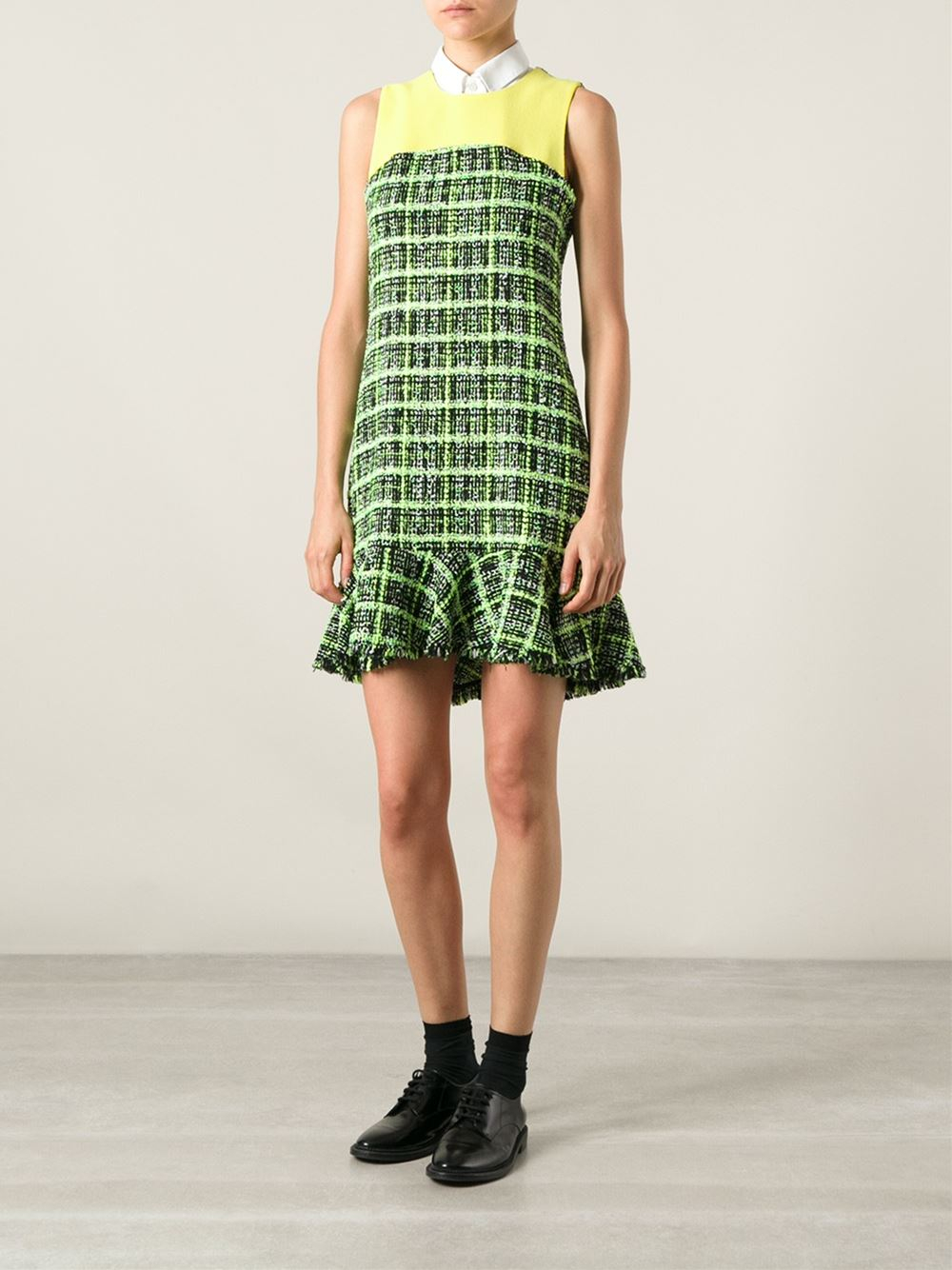 moschino-cheap-chic-green-boucle-knit-dress-product-1-22309247-0-963038930-normal