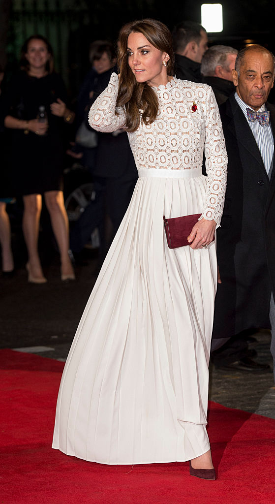 """LONDON, ENGLAND - NOVEMBER 03: Catherine, Duchess of Cambridge attends UK Premiere of """"A Street Cat Named Bob"""" in aid of Action On Addiction on November 3, 2016 in London, United Kingdom. (Photo by Mark Cuthbert/UK Press via Getty Images)"""